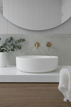 Classic Coastal Bathroom Colour Scheme — Zephyr + Stone Classic Bathroom, Modern Bathroom Design, Bathroom Interior Design, Simple Bathroom Designs, Beach House Bathroom, Laundry In Bathroom, Stone Bathroom, Bathroom Tapware, Bathroom Showers