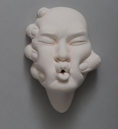Johnson Tsang - Hong Kong artist Human Sculpture, Sculpture Clay, Johnson Tsang, Ceramic Mask, Pottery Sculpture, Gcse Art, Art Portfolio, Installation Art, Art Tutorials