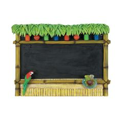 Tiki chalkboard. Any questions?