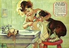 "Frances Tipton Hunter- American Illustrator (1896-1957), ""Prophylactic Brush"""