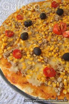 Receita de Pizza de Batata com Atum