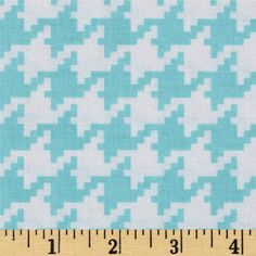 Michael Miller Everyday Houndstooth Aqua from @fabricdotcom  Designed by Michael Miller, this cotton print fabric is perfect for quilting, apparel and home decor accents. Colors include aqua and white.