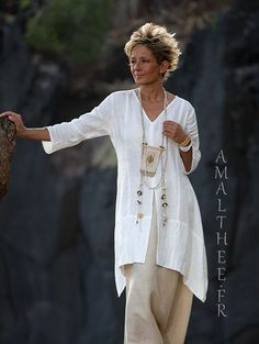 Our natural white linen shirt Emilie THE must have of this summer!