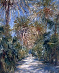 huariqueje: The Jardin d'Essai, Algiers - pierre Auguste Renoir 1881 Impressionism