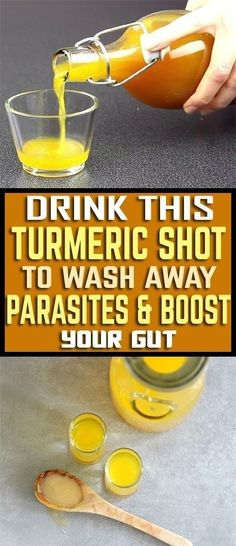 If you suffer from chronic inflammation you should definitely consume turmeric. This remedy is amazing in relieving inflammatory diseases such as arthritis, heart disease, Alzheimer's, and throat. Turmeric Shots, Turmeric Drink, Turmeric Lemonade, Turmeric Recipes, Turmeric Health Benefits, Benefits Of Coconut Oil, Healthy Oils, Healthy Man, Detox Drinks
