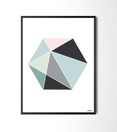 Hexagon color via Fröken Form. Click on the image to see more!