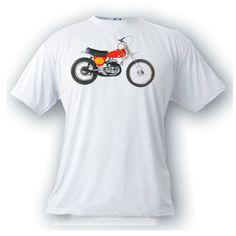 Bultaco MK 360 pursang motorcycle vintage motocross image t-shirt by artonstuffdesigns on Etsy