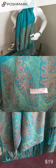 Pashmina Scarf Posh Teal Green Pashmina Scarf Accessories Scarves & Wraps