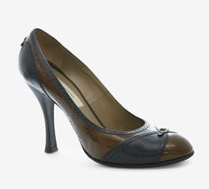 Marc Jacobs Black And Chocolate Brown Pump | VAUNTE