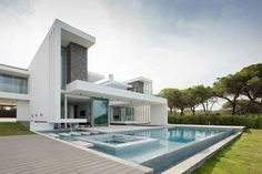 Private House in Vale do Lobo,  designed by Arquiteto Miguel Sintrarebelo.  © João Morgado - Architecture Photography  #portugal