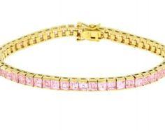 Genuine cubic zirconium tennis bracelet