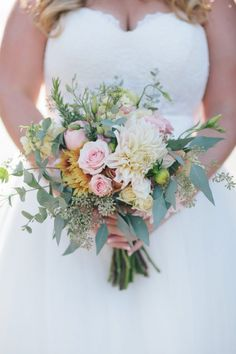 Rustic Wedding Bouquet #weddingbouquets