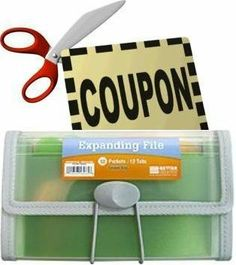 """Coupon Organizer and Holder - Clear -13 Pockets by TheStorageStore.com. $4.99. Multi-Colored Tabs. Super Clear Transparent Poly with Sewn Edges. Size: 4 1/2""""tall x 7 1/8""""wide x 1""""thick. 13 Pockets & 12 Tabs (insertable tabs included). Twelve multi-colored tabs will make sorting through and finding the exact coupons you want, when you want. Two business card sleeves inside will hold your own personal business card or a frequently needed one. The button and elastic closure keep..."""