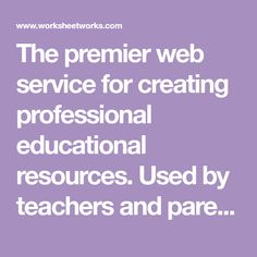 The premier web service for creating professional educational resources. Used by teachers and parents around the world. Study Skills, Writing Skills, Cursive Handwriting Practice, Online Math Courses, Hourly Planner, Co Teaching, Teaching Reading, Learning, Homeschool Kindergarten