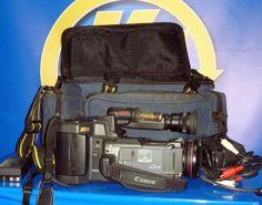 camara vintage CANON para piezas CANOVISION A1-H1 Hi8 con funda-cables y 2 batt.