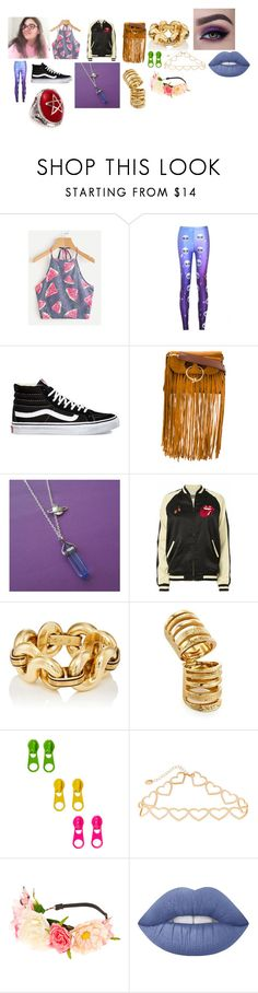 """""""I am making a song called It's Out Of This World!!!"""" by moonsxwolf ❤ liked on Polyvore featuring WithChic, Vans, J.W. Anderson, MadeWorn, Pamela Love, claire's and Lime Crime"""