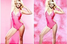 Britney Spears refused to be retouched in her campaign ad in Love this woman's strength and love for her body and every body type! It shows threw (through?) in her new lingerie line too! The Intimate: Britney Spears. Britney Spears, Katy Perry, Celebrity Photoshop Fails, Photoshop Celebrities, Before And After Photoshop, Celebrities Before And After, Photoshop Pics, Hollywood Celebrities, Top Celebrities