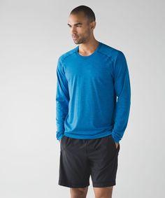 Men's Yoga Top - (Blue, Size XL) - Metal Vent Tech Long Sleeve - lululemon