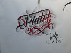 Some random calligraphy photos from my camera by Mateusz WLK Wolski, via Behance