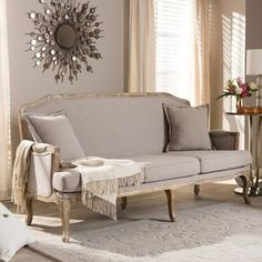 Shop for Baxton Studio Constanza Classic Antiqued French Sofa. Get free shipping at Overstock.com - Your Online Furniture Outlet Store! Get 5% in rewards with Club O!