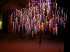 Christmas tree lights discovered by Corinne Box Twinkle Lights, Christmas Lights, Christmas Tree, Artistic Installation, Light Installation, Tree Lighting, Neon Lighting, Light Wall Art, Booth Design