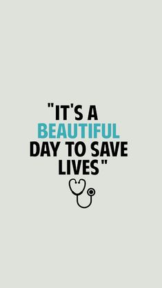 """""""É um lindo dia para salvar vidas"""" ❤️"""