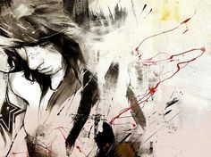 Illustrations by Russ Mills Paar Illustration, Abstract Faces, Cool Artwork, Art Pictures, Artsy Fartsy, Character Design, Image, Inspire, Portrait Paintings