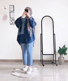 Modest Fashion, Fashion Outfits, Mode Turban, Hijab Fashion Inspiration, Hijab Chic, Beautiful Hijab, Ootd, Hijab Outfit, Cute Casual Outfits