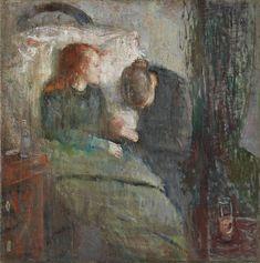 """(munch) """"det syke barn"""" - 1885/6"""