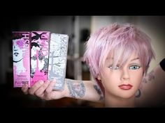 Pastel Pink and Blonde Hair Color and Short Textured Haircut Tutorial | MATT BECK VLOG 81 - YouTube
