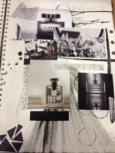 mood board black and white photography research.