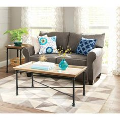 Better Homes and Gardens River Crest Coffee Table, Rustic Oak Finish - Walmart.com