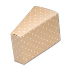 £3.79 Spotted Coffee Cake Slice Favour Box 10pk