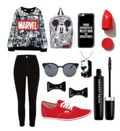 """""""Relax and read comics """" by pauly-style on Polyvore featuring Vans, NARS Cosmetics, Marc Jacobs, Marc by Marc Jacobs, Quay, Casetify y Topshop"""