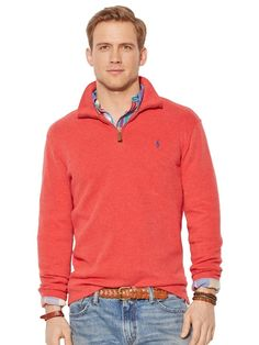 Polo Ralph Lauren Men\u0027s Half Zip French Rib Cotton Sweater from  #GreatSkyGifts