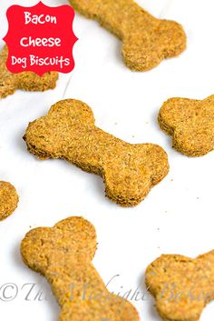 """Bacon Cheese Dog Biscuits #DogBiscuits #DogTreats. So simple to make and your """"baby"""" will appreciate this treat. Since this is such an easy and not so expensive treat, these would be great to make and donate to your local shelter."""