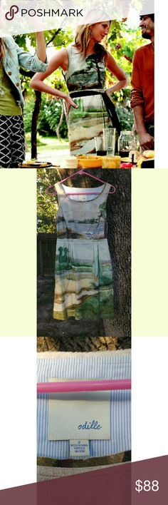 Selling this Anthropologie Odille Artist's Rendering dress! in my Poshmark closet! My username is: lavilla3. #shopmycloset #poshmark #fashion #shopping #style #forsale #Anthropologie #Dresses & Skirts