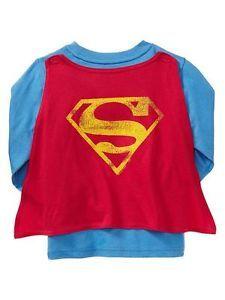 Gap Kids Superman Junk Food Cape Tee Shirt 3T 4T   eBay