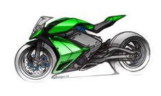 Daily Sketch : Kawasaki Sportbike / by Jean-Thomas MAYER / ISD