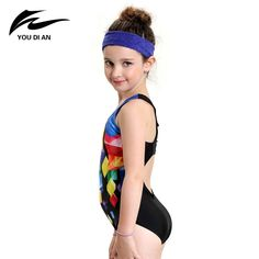 18.26$  Watch now - http://aliq1n.shopchina.info/1/go.php?t=32796907361 - new children swimwear kids patchwork sports swimming clothes 2017 one piece baby toddler swimsuit girls bathing suits beachwear 18.26$ #magazine