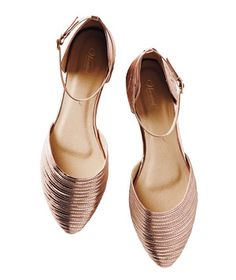Wanted Shoes Miley Flats: This season, rose gold isn't just for jewelry. These textured metallic flats go with everything from jeans to maxi dresses.
