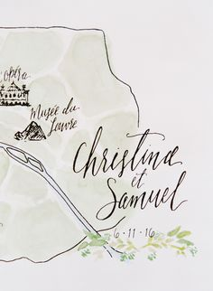 Love the idea of a map invite!! Photography : Greg Finck Read More on SMP:  http://www.stylemepretty.com/2016/12/05/french-chateau-destination-wedding-2/