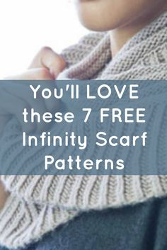 Learn how to knit an infinity scarf with this exclusive, FREE eBook that includes 7 free infinity scarf patterns, instructions and much more! Crochet Infinity Scarf Free Pattern, Knitting Patterns Free, Free Knitting, Scarf Patterns, Knitted Hats, Crochet Hats, Knitting Daily, Learn How To Knit, Knitting Accessories