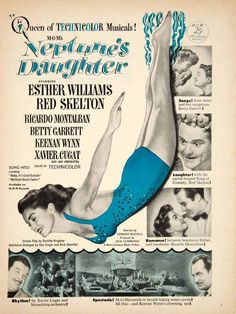 1949 Ad Movie Neptune's Daughter Musical Comedy Esther Williams Red Skelton YMS2 http://gekoo.co/buy/01/?query=311349024660…