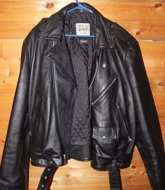 Open Road Wilsons Leather Vintage Black Motorcycle Biker Jacket Men's Sz XL #Wilson #Motorcycle
