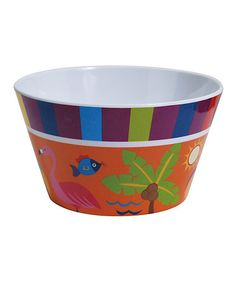 Flamingo Snack Bowl #zulilyfinds