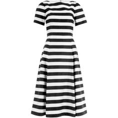 Damsel in a Dress Stripe Coco Dress, Black/White ($220) ❤ liked on Polyvore featuring dresses, special occasion dresses, long-sleeve mini dress, sleeved maxi dress, evening maxi dresses and striped maxi dress