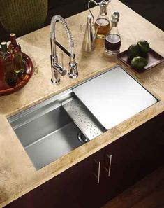 Houzer NVS-5100 Novus Undermount Kitchen Sink -- love the deep bowl and prep add-on options. hellooo future kitchen.