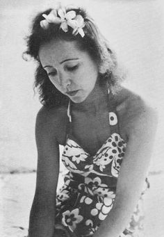 Anais Nin, in a surprisingly modern looking swimsuit!
