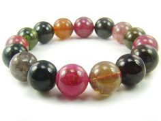BA5110 Multicolors Tourmaline Natural Crystal Stretch Bracelet - See more at: http://waggashop.com/wagga-shop-ba5110-multicolors-tourmaline-natural-crystal-stretch-bracelet